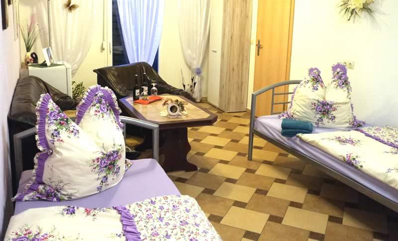 Monteurzimmer Doppelzimmer mit getrennten Betten